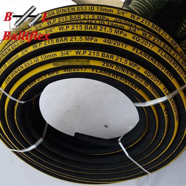 Hydraulikschlauch DN 6 8 10 12 16 19 25 1SN 2SN 2SC Meterware Rollenware