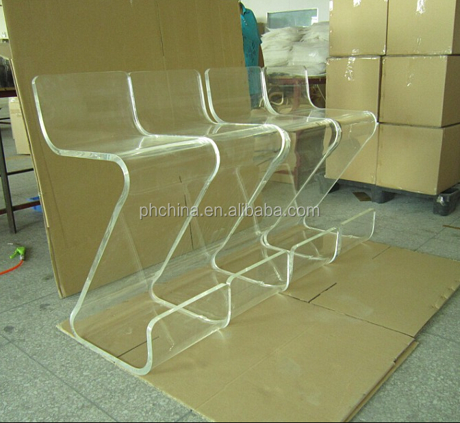 jac051 clear acrylic bar stooltop grade chair with bar - Clear Bar Stools