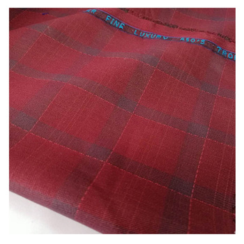 China factory supply TR suit fabrics with english edge for India market