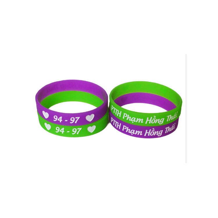 Anti-mosquito silicone wristband with ink filled logo, Any pantone colors