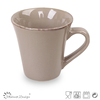 cone shaped with brown brush mug