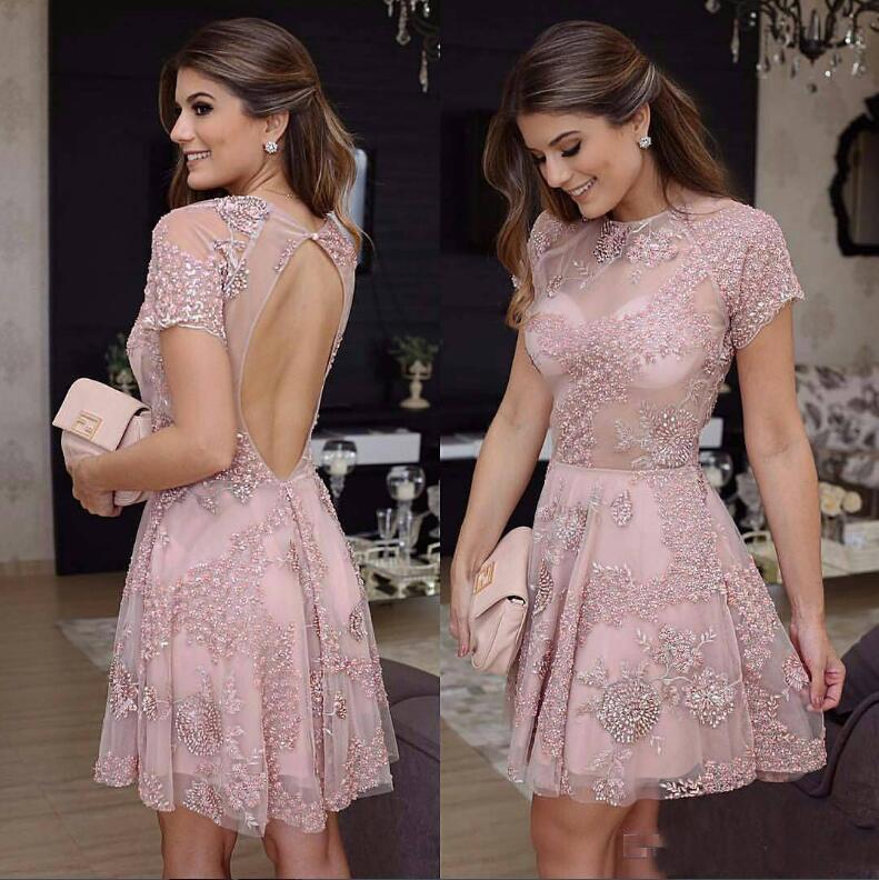 comprar colección completa bueno Corto De Encaje Prom Vestido De Fiesta 2018 Vestido De Las Mujeres ...