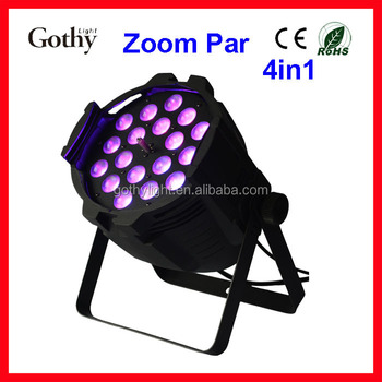 Zoom 18x10w 4in1 Led Par Zoom