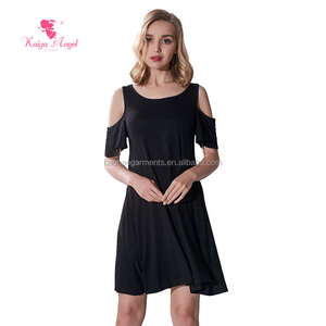 2018 Factory Direct Sale loose dress women casual wear clothing for hot sale women summer solid color dress