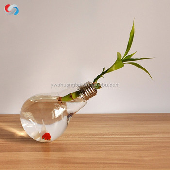 Home Decor Wedding Crafts Hanging Bulb Crystal Glass Plant Terrarium