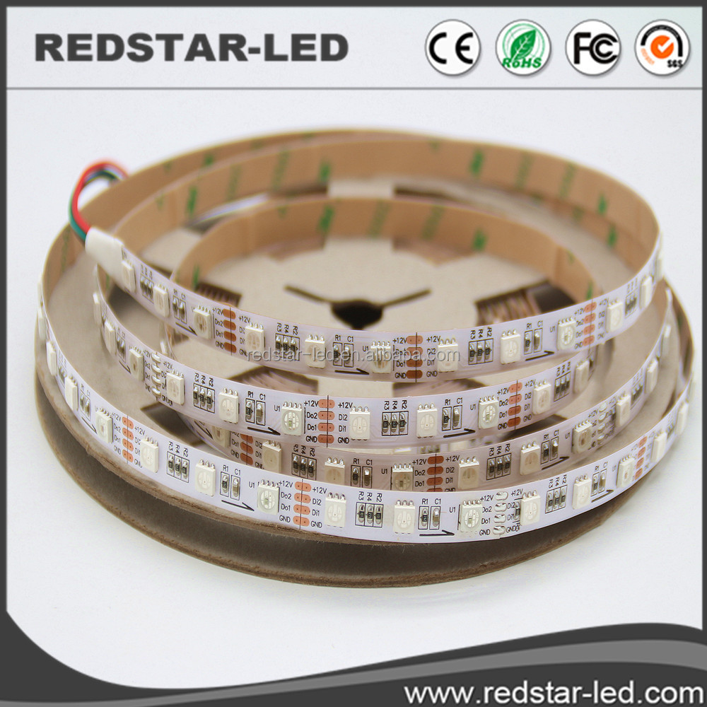 Digital 5050 led strip light 60leds/m IP20 DC12V IC inner Packed