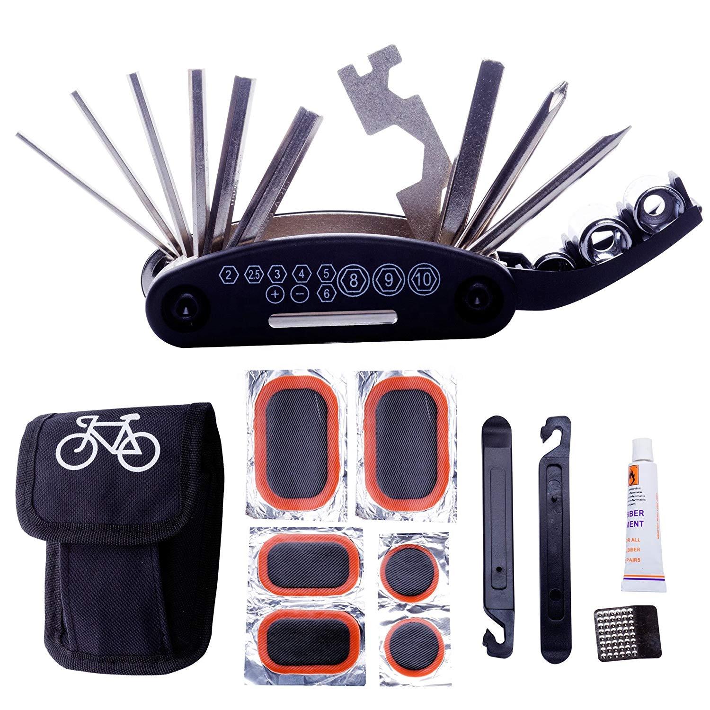 Kit de herramientas bicicleta 16-en-1 plegable 9 x 4,5 x 2,5 cm