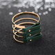Top brand Stainless Steel Women Cuff Bracelet Jewelry with green leather