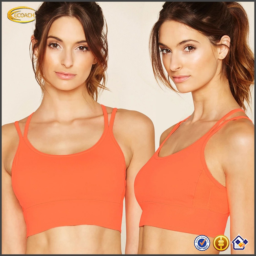 Ecoach Garment Factory Custom Blank Sportswear Hot Sale Women Sexy Workout Gym Fitness Running Yoga Sports Bra