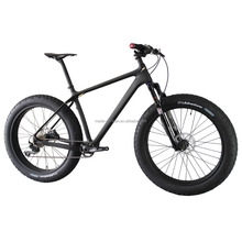 "26er Carbon Fat Bike With Rockshox Bluto Fork 16/18/20"" Tires carbon complete men's fatbike wheels UD matte finish"