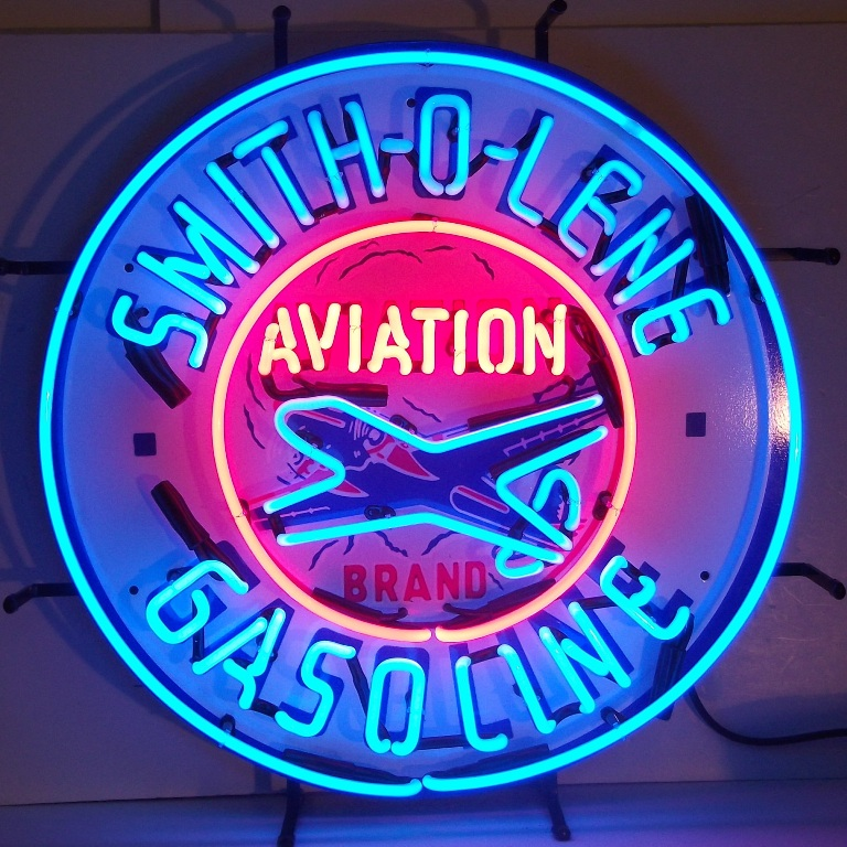 plane oil selling shop neon hand craft sign