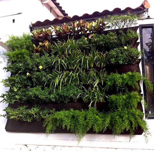 4 посадочные клетки вертикальный сад на стене - полиэстер живут в помещении на стене , плантатор черный мешок