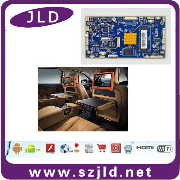 Custom android motherboard for headrests player connect to dvd gps 4G POE