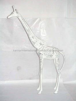 Aluminum Metal Giraffe Figurine, Garden Ornaments U0026 Decorations, Metal  Craft Animal Statue, Home