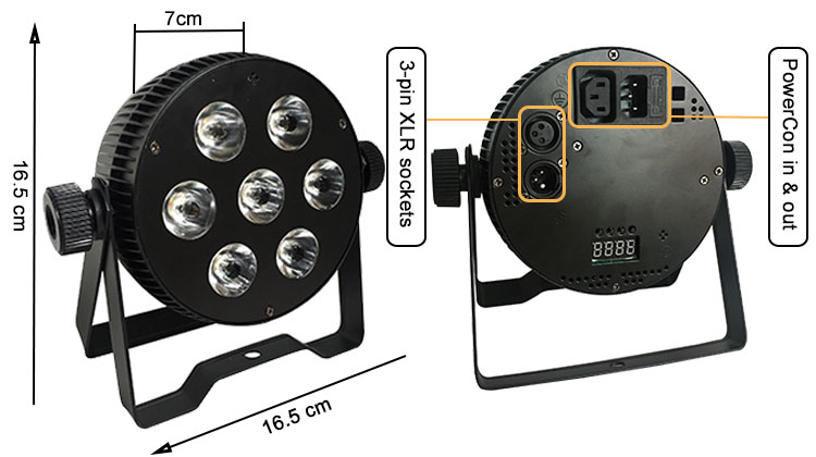 cheap disco light led wash light 7 pieces 8w/10w/12w 4in1/5in1/6in1 stage lighting par can for bar disco night club