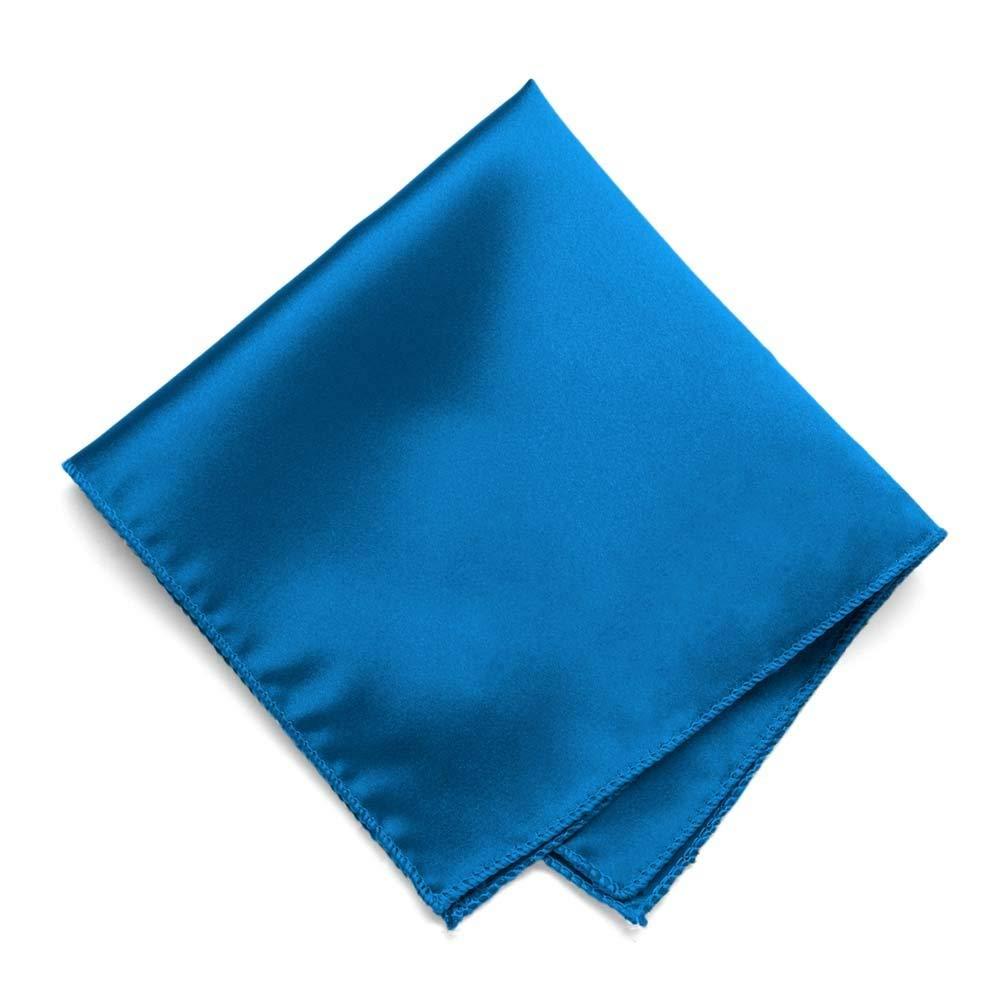 Get Quotations Tiemart Azure Blue Solid Color Pocket Square