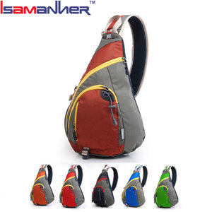 Leisure young people sport cycling triangle one shoulder strap backpacks