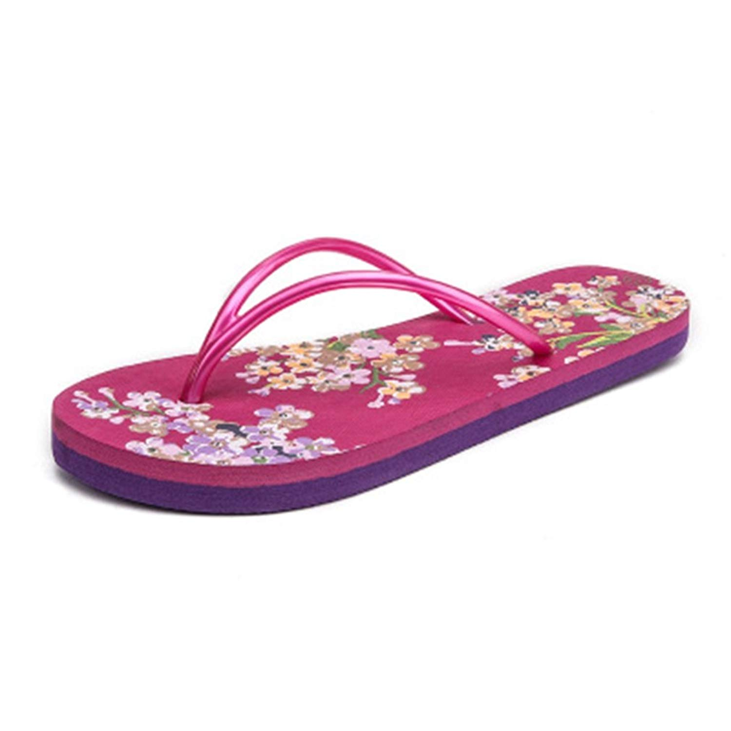 4867b643cabd Get Quotations · GIY Womens Fashion Florals Beach Flip Flops Sandals Flat  Comfort Soft Platform Ladies Summer Thong Slipper