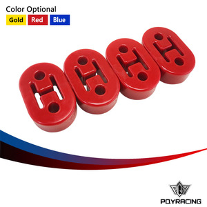 PQY RACING- RED,YELLOW,BLUE Polyurethane Exhaust/Muffler SHORT HANGERS 4pcs/lot universal PQY8952