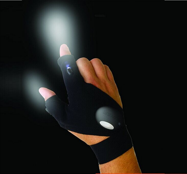As seen on TV Fishing Gloves with LED Light Night fishing and boating you can't drop