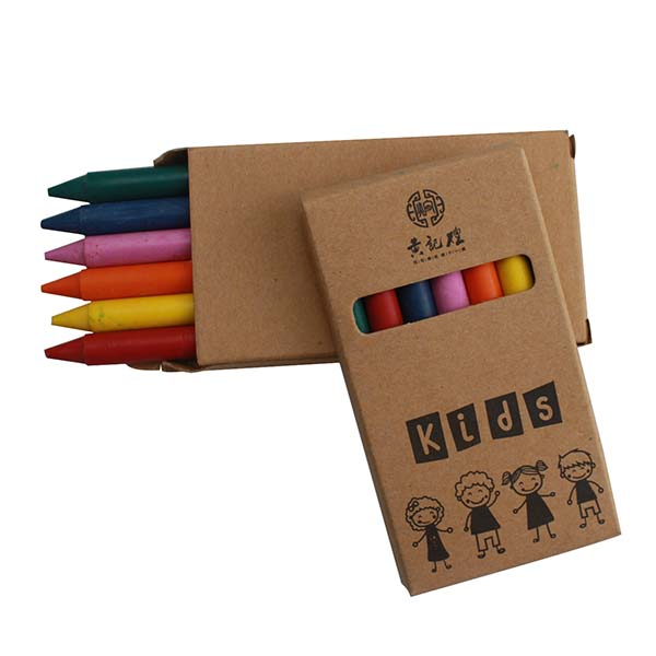 Color box set 6 pack kids drawing crayons