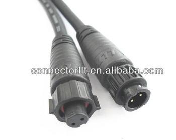 Llt M10 Bayonet Lock Molding Waterproof Cable 2 Pole