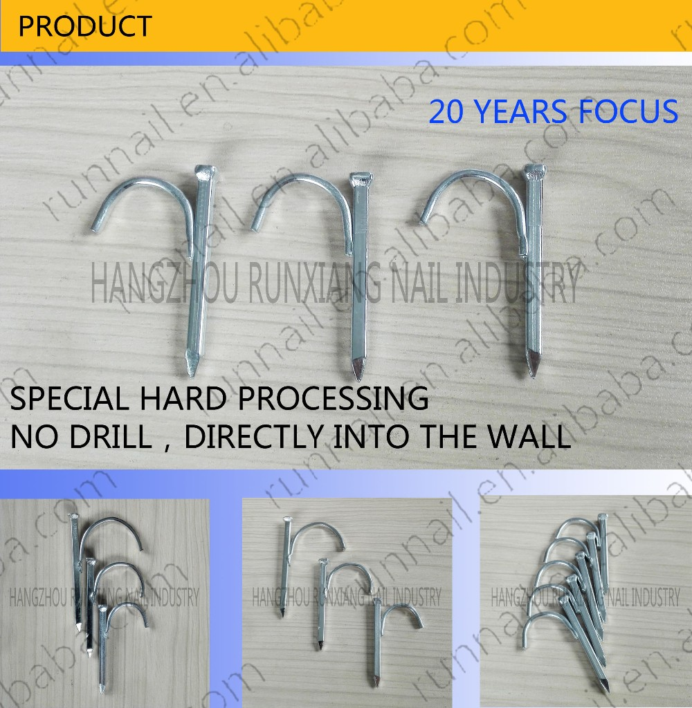 [20 Years] Steel Conduit Hook Nail / Steel Pipe Clip Nails / Steel Nail Strap