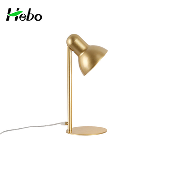Decoration Classic Iron LED Gold Nightstand Lamp Cc Office Reading Table  Lamps
