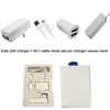 2016 3 in 1 usb Home charger and usb car charger Kit with cable for apple