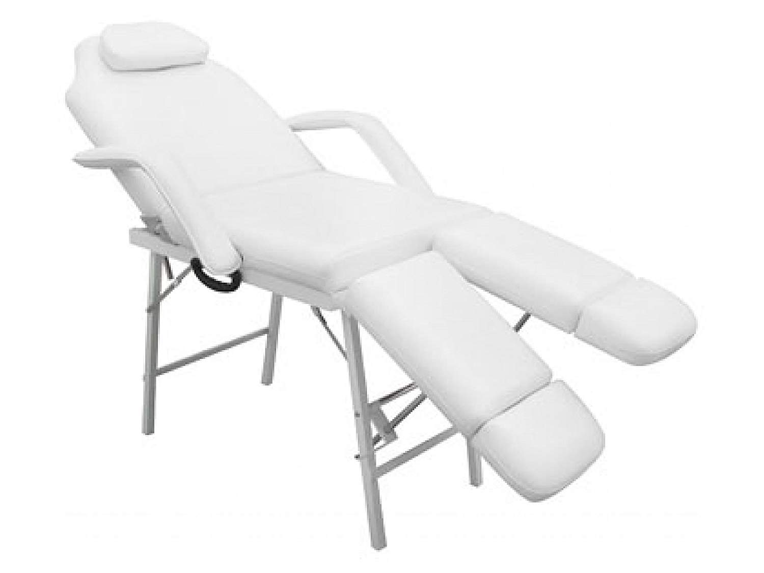 """Svitlife 75"""" Portable Tattoo Parlor Spa Salon Facial Bed Beauty Massage Table Chair White Adjustable Black 75 73 Barber Basket"""