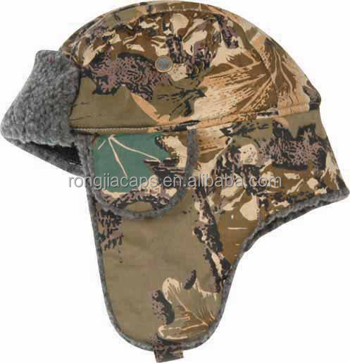army forest Chinese Factory made Warm winter hats