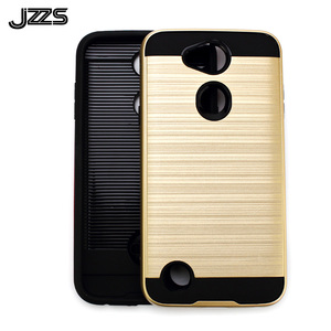 Brushed texture double layer mobile phone case hair line brushed metal combo phone case for LG X Power 3 phone case TPU PC