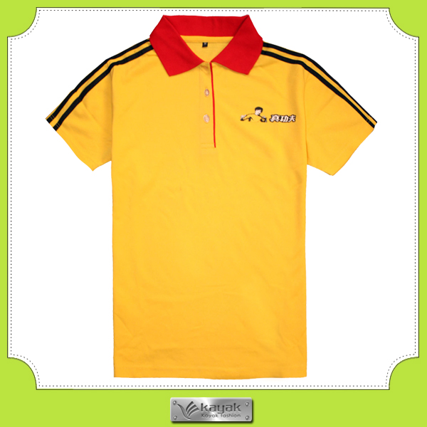 70f4e7a0a Custom Printed Two-tone Advertising Polo T-shirts With Red Collar ...