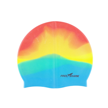 Fashionable  Silicone Swimming Caps with Mixed colors