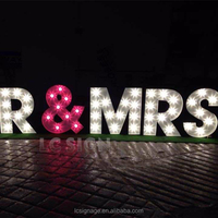 high quality customized led lighting marquee sign letter wooden alphabet letters