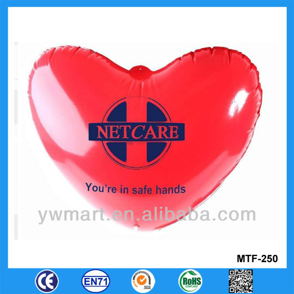 Inflatable heart , red PVC inflatable heart gift for Valentine Day