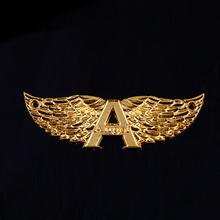 Aangepaste metalen zinklegering gold plating pilot wing eagle pin badge maken