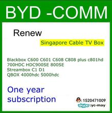 Renew for Blackbox C600 C601 C608 C808 plus c801hd 700HDC HDC900SE 800SE C1 QBOX 4000hdc 5000hdc Singapore Cable TV Box