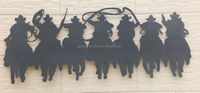 wholesale home decor cowboy style wrought iron crafts metal handmade wall hangings