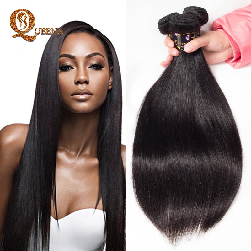 Alixpress Malaysian Long Hair Silky Straight Hair Extension <strong>Human</strong> Double Drawn Mulatto Hair Weaves