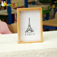 2016 wholesale kids wooden photo frame, fashion baby wooden photo frame, hottest children wooden photo frame W09A040