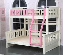 decoracin del hogar de la cama litera triple con escalera