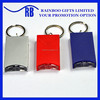 Supply hot selling cheap logo printed plastic square shape led keyholder with keychain for promotion