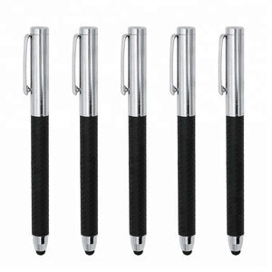 Promotional Gifts Metal Tip Stylus Leather Ball Pen