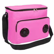 Wholesale insulated shoulder lunch cooler bag picnic wine cooling bag with speaker