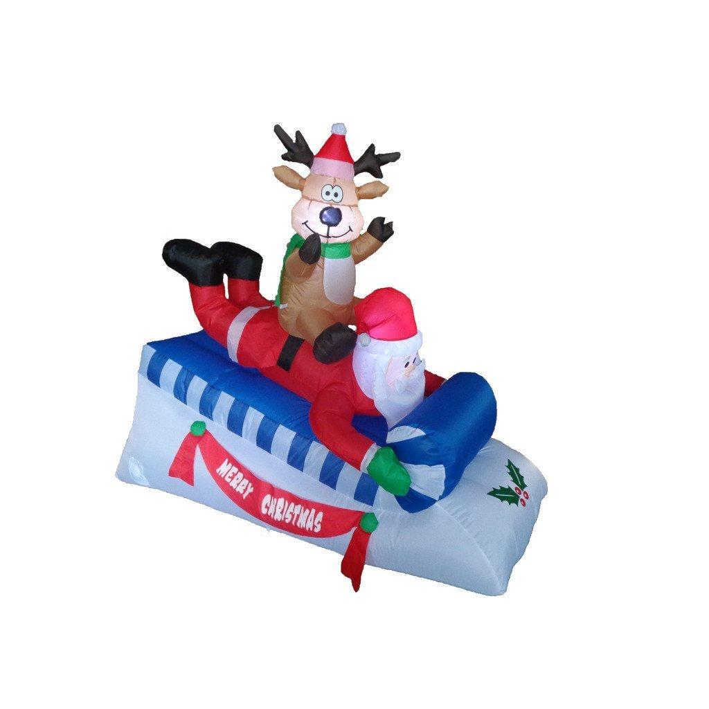 Buy LB International Inflatable Santa and Sleigh Christmas ...