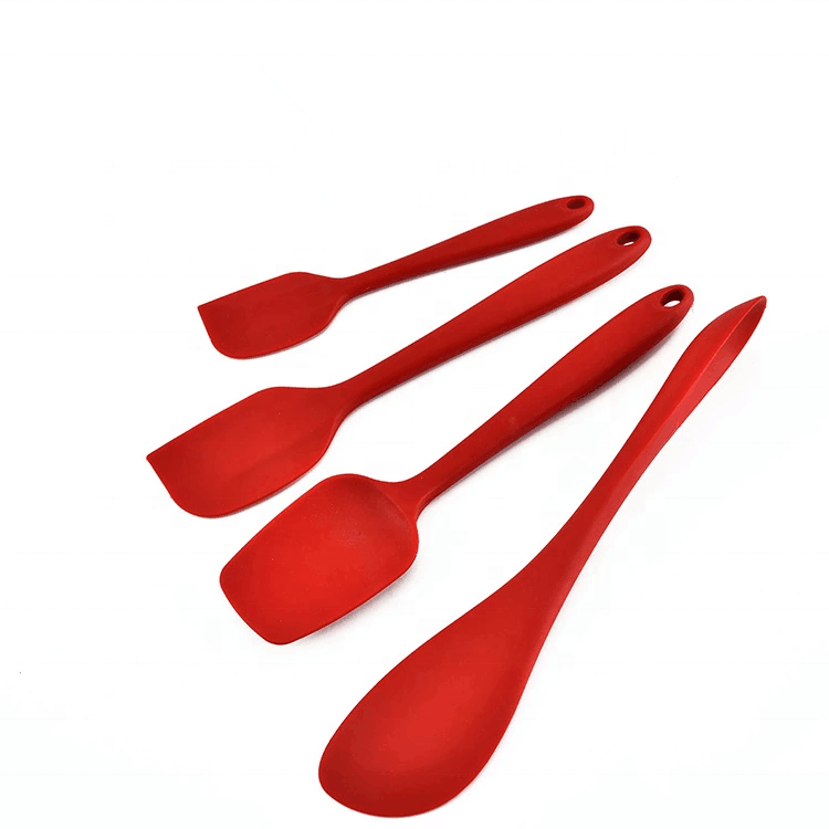 2019 4pcs Silicone Kitchen Utensils Cooking Set Heat Resistant Utensils Cookware Spatula Set