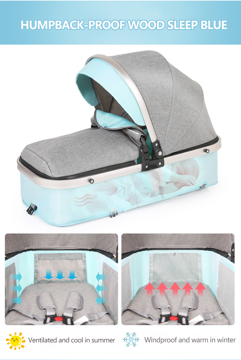 Trung quốc xe đẩy em bé nhà sản xuất cao cảnh quan và có thể gập lại bé xe đẩy xe đẩy 3 trong 1