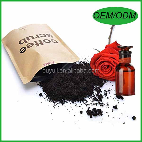 Natural Organic Rose Coffee Body Scrub with Rose Essential oil