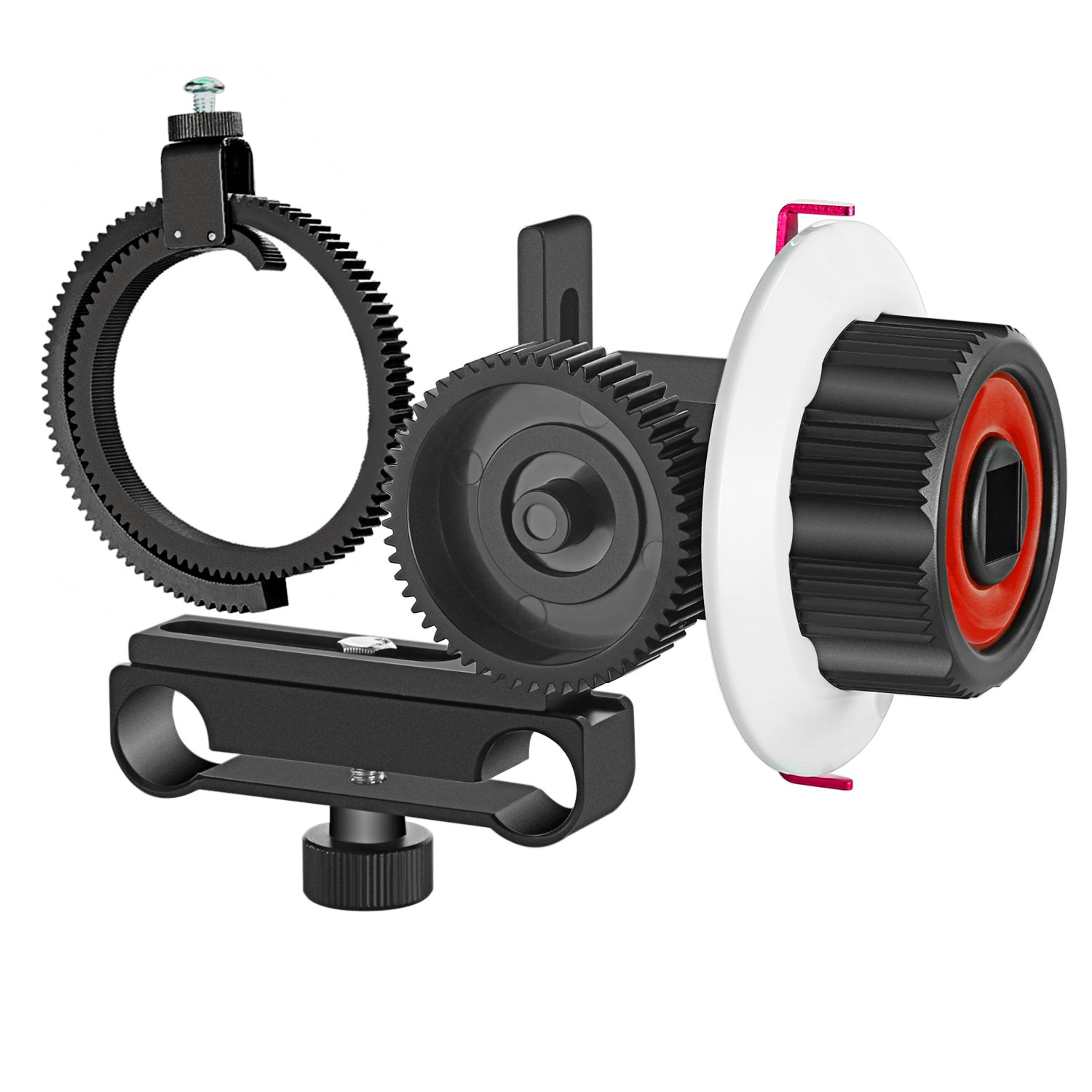 Fotga DP500III Follow Focus 15mm-19mm Rail Rod Clamp Filming System Camera Gears Kits for DSLR Cameras Camcorders Photography